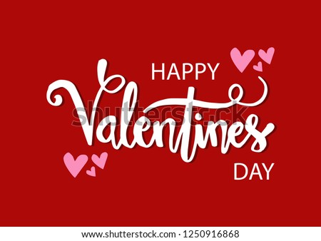 Valentines day lettering background #1250916868