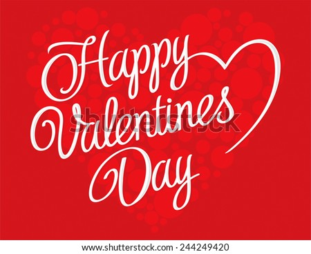 Happy valentines day greeting card download free vector art valentines day lettering background happy valentines day text on a red background m4hsunfo