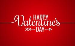 Valentines Day Line Vintage Lettering Background