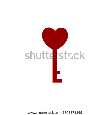 Valentines day, love key icon. Element of Web Valentine day icon for mobile concept and web apps. Detailed Valentines day, love key icon can be used for web and mobile