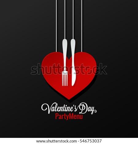 Valentines Day Menu logo design Background.