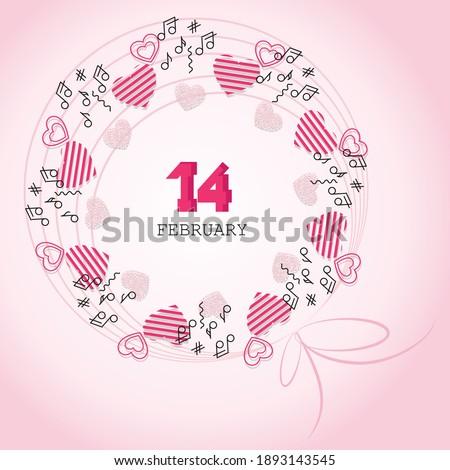 valentines day musical wreath