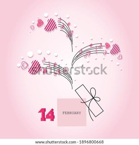 valentines day open music box
