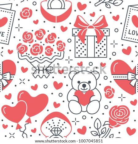 valentines day pink seamless