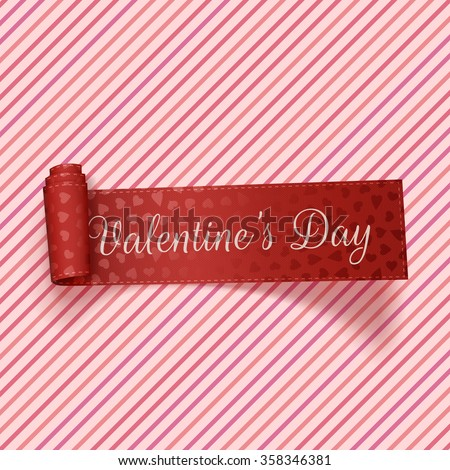 Valentines Day realistic red festive Tag