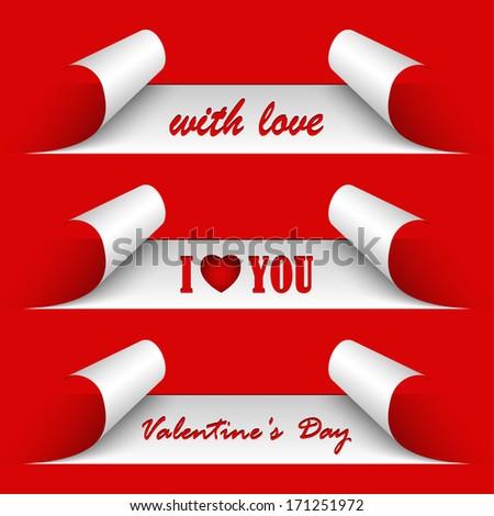 Valentines day red stickers