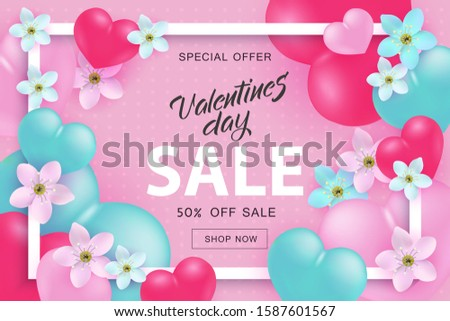 valentines day sale and special