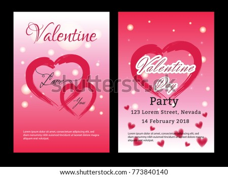 Valentines day sale background with set pattern. Vector illustration. Wallpaper, flyers, invitation, posters, brochure. #773840140