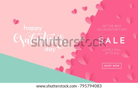 valentines day sale poster or