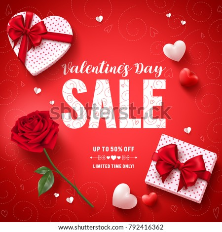 valentines day sale text vector