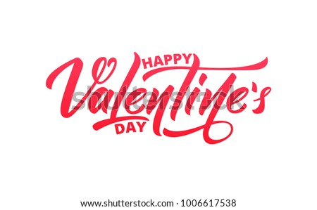 Valentines Day. Script lettering design. Happy Valentine's Day
