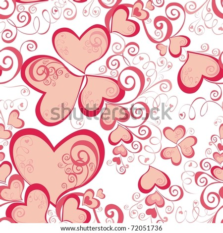 Valentines Day seamless pattern with hearts for your design