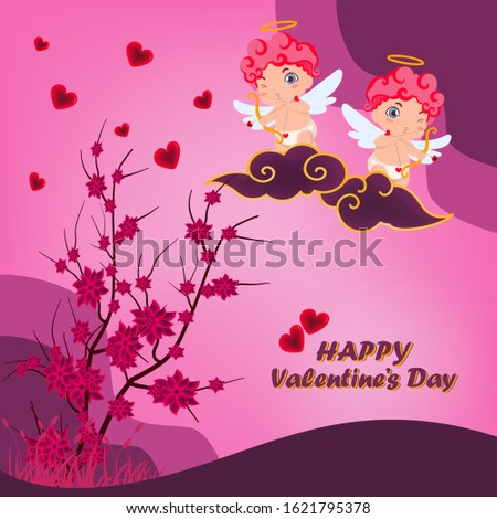 valentines day vector twins