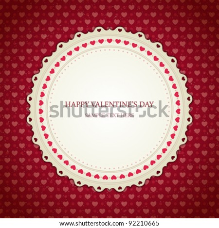Valentines day vintage card vector background eps 10
