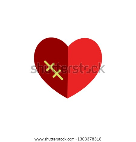 Valentines day, wound icon. Element of Web Valentine day icon for mobile concept and web apps. Detailed Valentines day, wound icon can be used for web and mobile