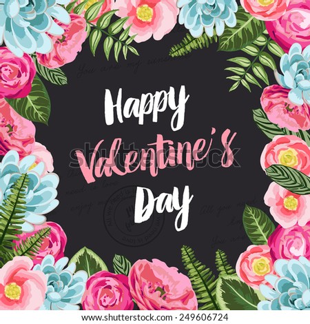 valentines greeting card with
