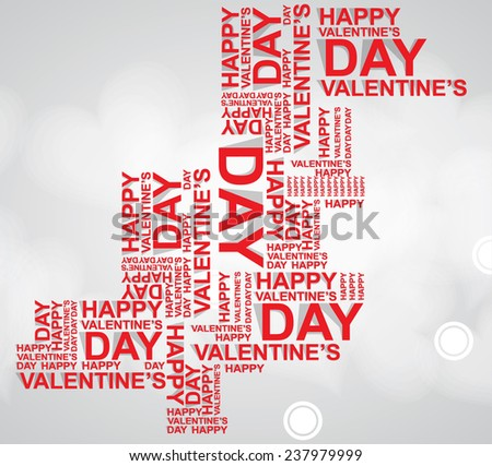 valentines happy day winter background. card vector illustration for fine emotion