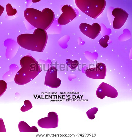 Valentines Hearts background, vector illustration eps10 - stock vector