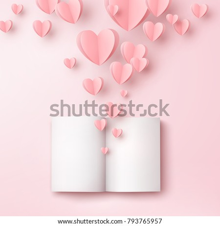 valentines hearts with open