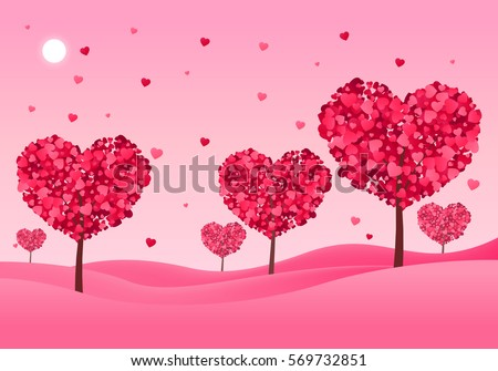 valentines landscape background