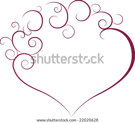 valentines love heart vector