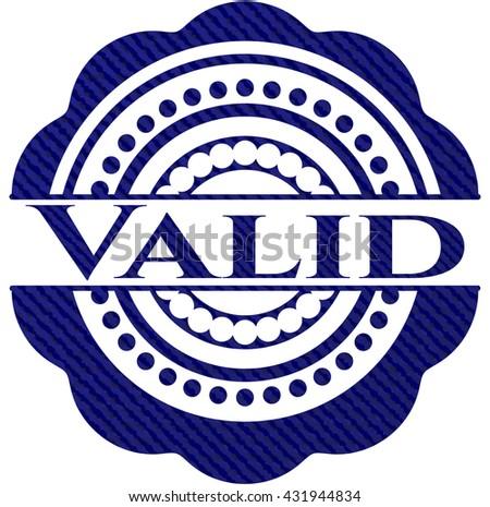 Valid jean or denim emblem or badge background