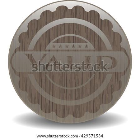 Valid vintage wood emblem