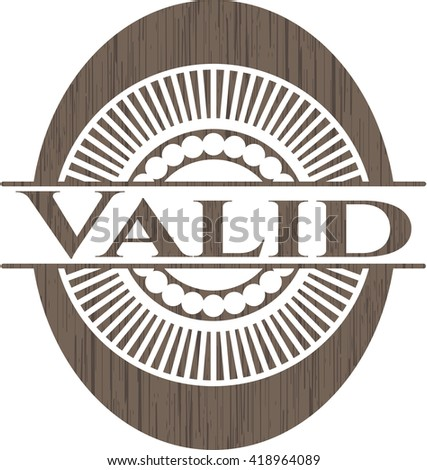 Valid vintage wooden emblem