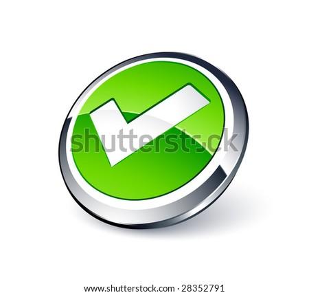 Validation button - stock vector