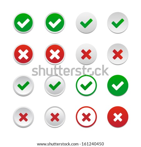 validation buttons