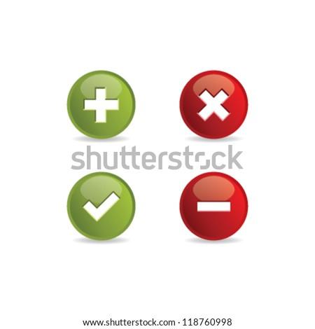 Validation icons. Vector illustration.