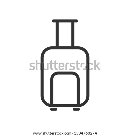 valise outline ui web icon. valise vector icon for web, mobile and user interface design isolated on white background