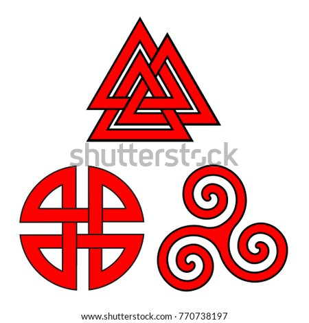 valknut  shield knot and