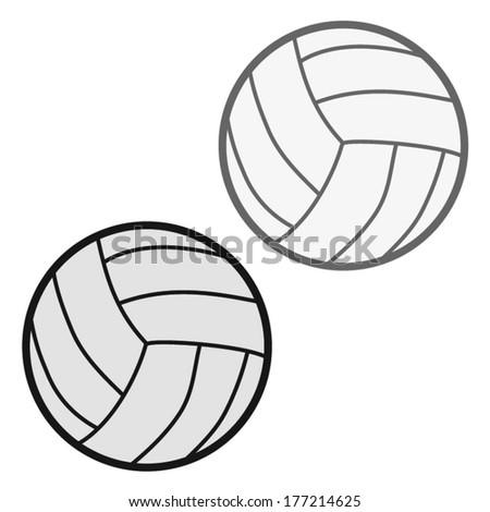 valley ball vector illustration