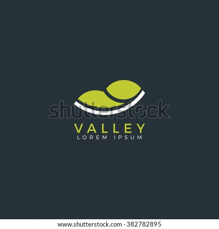 valley flat logo vector valley