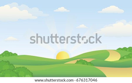 valley scenery in early morning