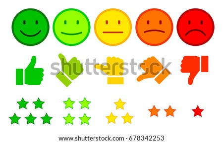 valuation by emoticons   vector
