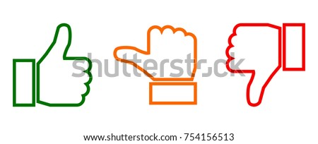 valuation thumbs sign   vector