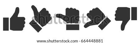 valuation thumbs   vector