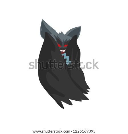 vampire bat in black cape