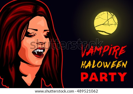 vampire beauty woman  red hair