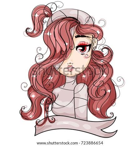 vampire cartoon girl character