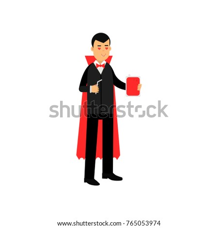 vampire character standing with