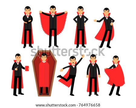 vampire characters posing in