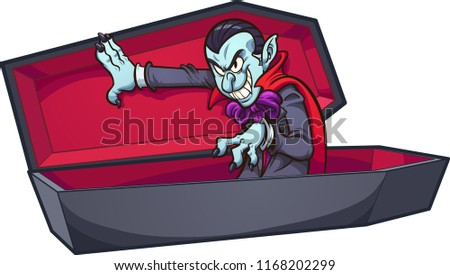 vampire coming out of coffin