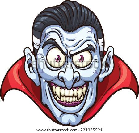vampire face vector clip art
