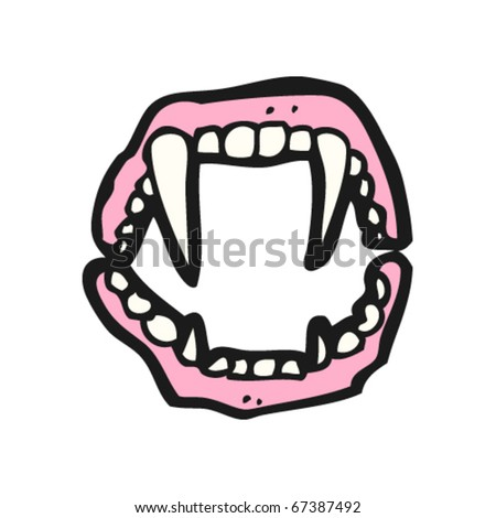 stock vector : vampire fangs cartoon