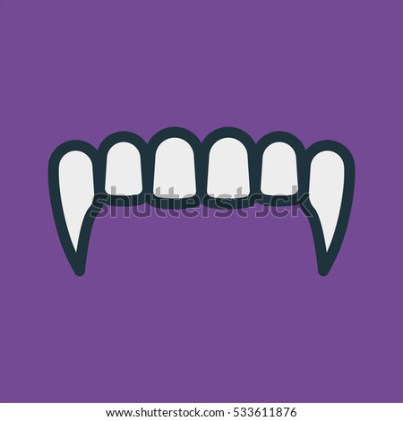 vampire fangs teeth minimal