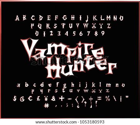 vampire hunter   gothic vector