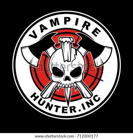 vampire hunter sticker design